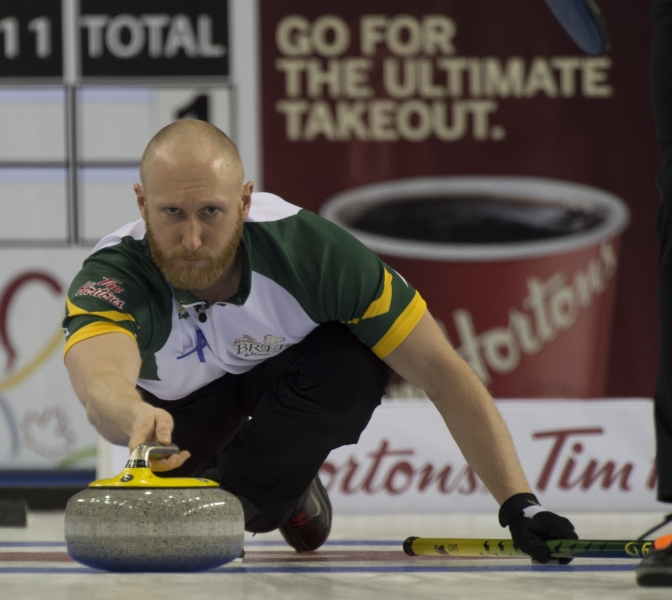 Ottawa Ont.Mar 8, 2016.Tim Hortons Brier. Northern Ontario skip Brad Jacobs,Curling Canada/ michael burns photo
